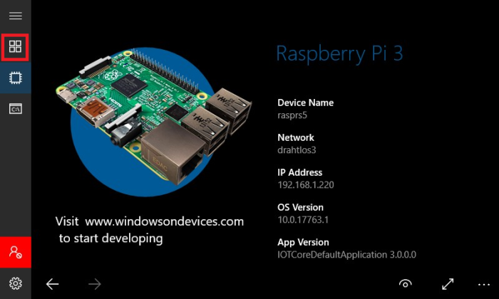 RaspBerry-Pi – Insights into the Universal Windows Platform